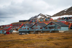 Longyearbyen city, Svalbard Royalty Free Stock Photos