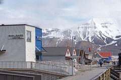 Longyearbyen main street Stock Photos