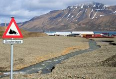 Longyearbyen, Norvège Images stock