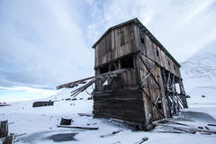 Longyearbyen, old arctic building Royalty Free Stock Photography