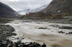 Longyearbyen Spitsbergen, Svalbard, Noorwegen royalty-vrije stock fotografie