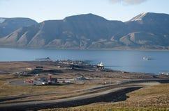Longyearbyen Spitsbergen, Svalbard, Noorwegen stock afbeeldingen
