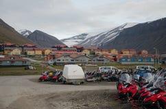 Longyearbyen Spitsbergen, Svalbard, Noorwegen royalty-vrije stock afbeeldingen