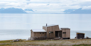 Longyearbyen Spitsbergen, Svalbard, Noorwegen stock afbeelding