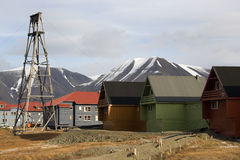 Longyearbyen - Svalbard Eilanden - Noorwegen Stock Foto's