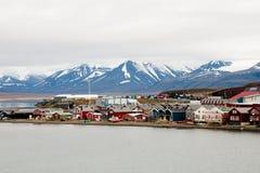 Longyearbyen - Svalbard - Noorwegen royalty-vrije stock afbeelding
