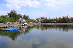Longzhouchi ( dragon boat pool ) of jimei school in amoy city Royalty Free Stock Photos