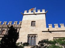 The Lonja de la Seda Civil Building, Valencia. The Lonja de la Seda is a Gothic style  civil building in Valencia's Old Town, built between 1482 and 1548. It is Royalty Free Stock Photos