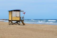 Lonley beach, Punta Del Este Uruguay Royalty Free Stock Images
