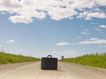 Lonley briefcase Royalty Free Stock Images