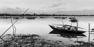 Lonley. The Thu bon river in hoi an- Viet nam Royalty Free Stock Image