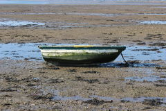 Lonly little boat. On the beach Royalty Free Stock Image