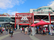 Lonsdale Quay Market. Is located in the City of North Vancouver, British Columbia, Canada.nThe marketplace has a number of food retailers, restaurants, and stock photo