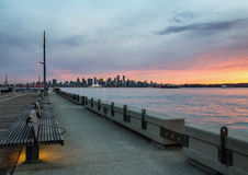 Lonsdale with Vancouver DT in Background Royalty Free Stock Photo