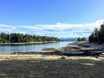 Lontano una vista di Nanaimo, Columbia Britannica, Canada dall' fotografia stock libera da diritti