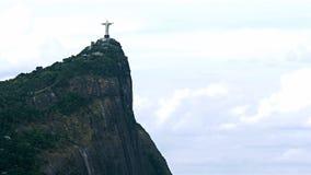 Lontano vista di Cristo la statua del redentore Fotografia Stock