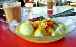 Lontong and Teh Tarik Stock Photography