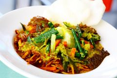Lontong-Teller stockfotos