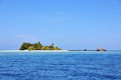 Lonubo wyspa, Maldives zdjęcie stock