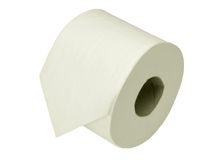 Loo aka toilet roll, isolated Stock Photo