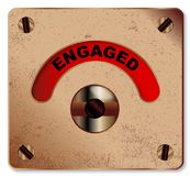Loo Engaged Indicator. A typical loo engaged indicator over a white background stock illustration