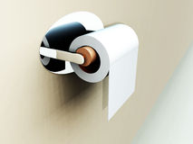 Loo Roll 15. A image of a simple loo roll on its holder Royalty Free Stock Photography