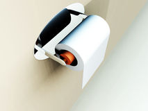 Loo Roll 20. A image of a simple loo roll on its holder Stock Images