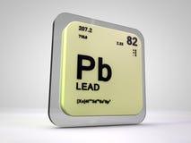 Lood - Pd - chemische elementen periodieke lijst stock illustratie