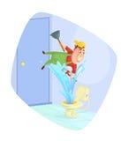 Loodgieter bevestigend toilet Royalty-vrije Stock Afbeelding