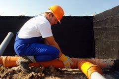 Loodgieter op het werk Royalty-vrije Stock Fotografie