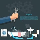 Loodgieterswerkconcept Stock Afbeeldingen