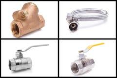 Loodgieterswerkhulpmiddelen en materialen Stock Fotografie
