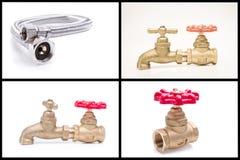 Loodgieterswerkhulpmiddelen en materialen Royalty-vrije Stock Afbeelding