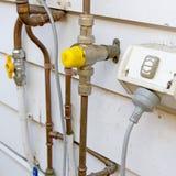 Loodgieterswerkpijpen Stock Foto