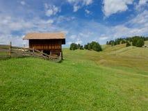 Loods op Seiser Alm in het Italiaanse Dolomiet Royalty-vrije Stock Afbeeldingen
