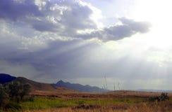 Loodwolken royalty-vrije stock afbeelding