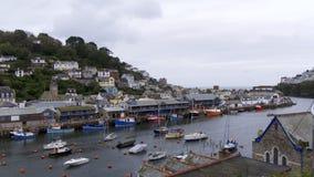 ` Looe ` Cornwall het UK, de rivier stock afbeelding