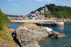 Looe harbour and beach Cornwall England Stock Photography