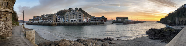 Looe i Cornwall Fotografering för Bildbyråer