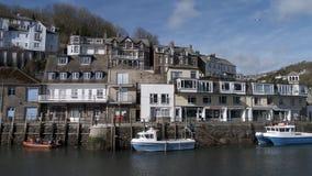 Looe schronienie, Cornwall UK zdjęcie stock