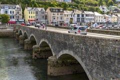 LOOE, Cornwall, England, UK - September 10 2018: Looe a very popular fishing port and Beach Holiday Resort royalty free stock photo