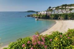 Looe strand Cornwall England Arkivfoto
