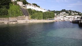 Looe town and river Cornwall England, Stock Photo