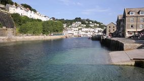 Looe town and river Cornwall England, Royalty Free Stock Photo