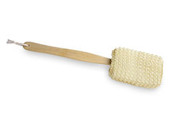 Loofah Long Handled clean back brush Royalty Free Stock Photo