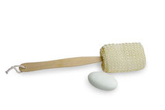 Loofah Long Handled clean back brush Stock Images