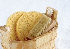 Loofah and scrub Stock Images