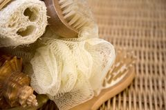 Loofah, scrub and brush Royalty Free Stock Photos