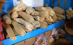 Loofahs on sale. On the island of Kalymnos Stock Photos