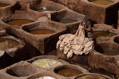 Looierij in Fez, Marokko Stock Foto